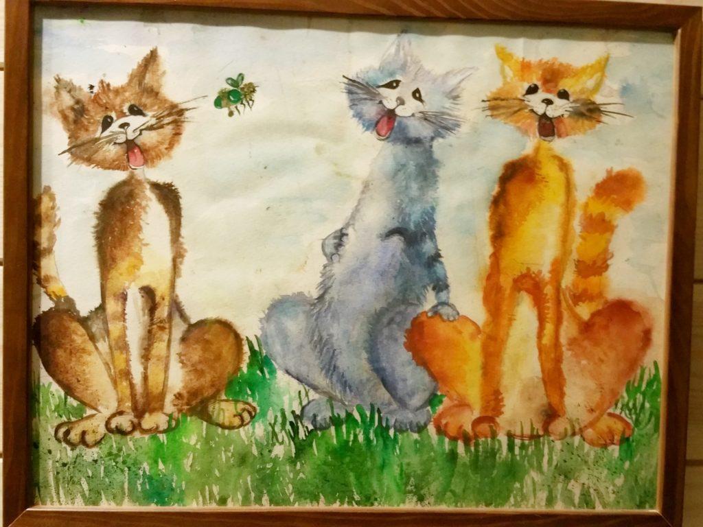 картинка Николь. Семья котов