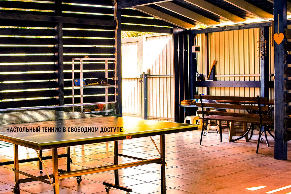 Стол для настольного тенниса на Эко-даче