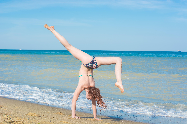 training on the beach eco-dacha