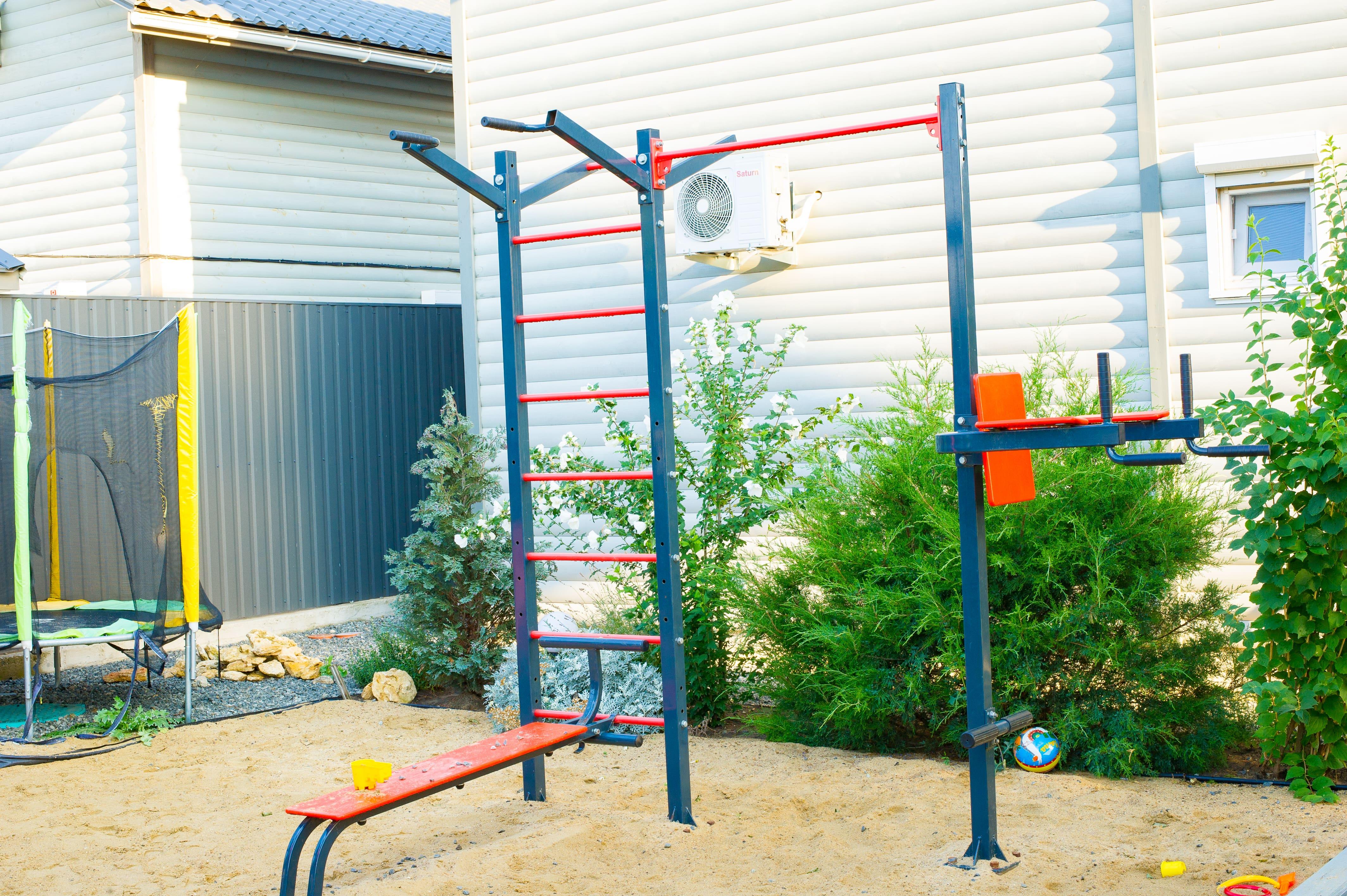 спортивный уголок для детей на эко-даче