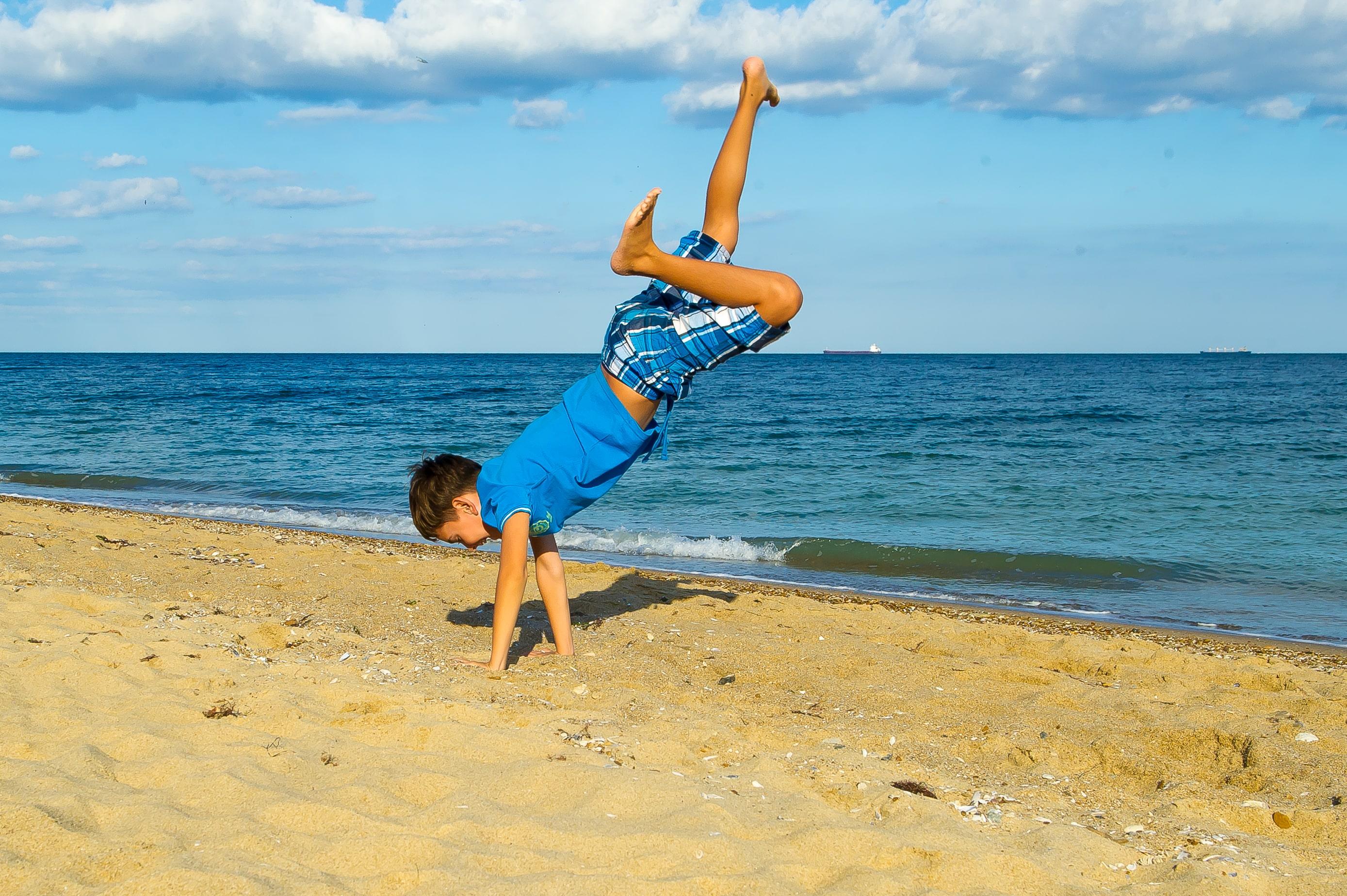песчанный пляж Эко-дача